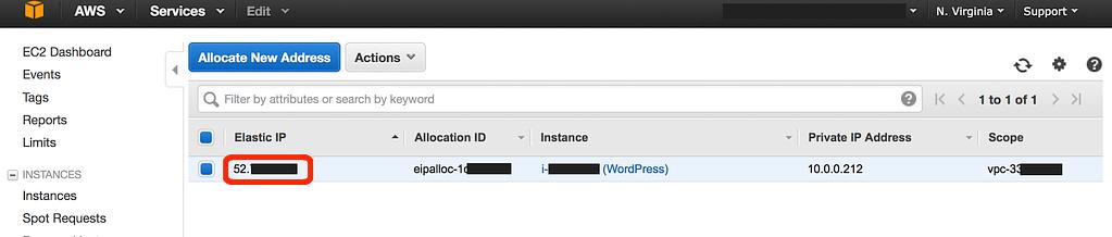 Sao chép địa chỉ IP đàn hồi