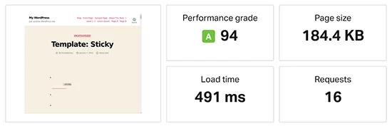 Kết quả kiểm tra tốc độ SiteGround