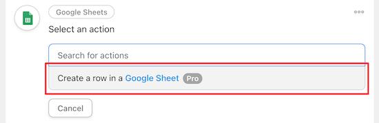 Tạo 1 Dòng trong google sheets