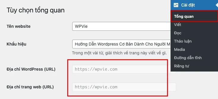 Sử dụng HTTP cho địa chỉ cửa hàng WordPress của bạn