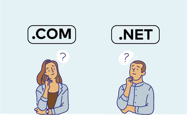 Phần mở rộng tên miền .com vs .net
